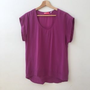 BDG Urban Outfitters  Cap Sleeve Silk Blouse M